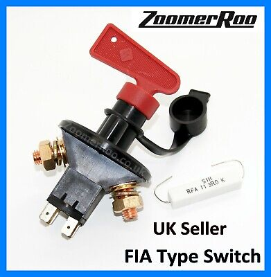 12V Battery Main Switch Isolator Cut Off Fia Type Rally Car Motorsport