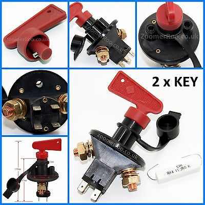 Classic Car Battery Isolator Cut Out Off Kill Switch FIA Type Kit Car Race Rally