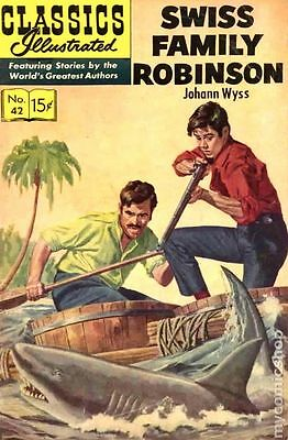 Classics Illustrated 042 Swiss Family Robinson #15 VG 4.0 LOW GRADE