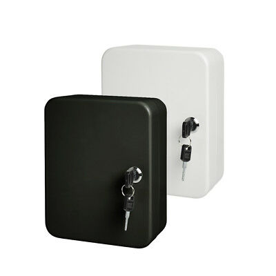 Lockable Security Metal Key Cabinet / Storage Box Safe For 20 Fobs Wall Mounted