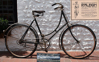 WW1 1917 Raleigh 'All-Steel' Model C Lady's Roadster Vintage Antique