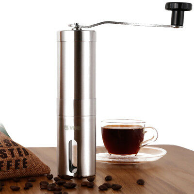 Stainless Steel Coffee Bean Hand Grinder Mill Adjustable Fineness 30g Yield