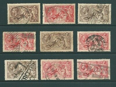 GB - UNCHECKED group of George V SEAHORSES