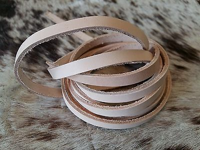 Leather straps Flat band Interlace 2200 x 9 mm nature vegetable punching