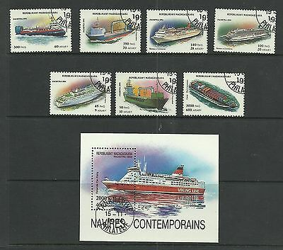 MADAGASCAR 1994  Ships   fine used set + miniature sheet