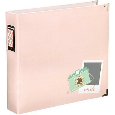 "Project Life Dear Lizzy Neopolitan Camera D-Ring 12""x12"" Scrapbooking Album"