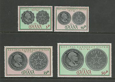 GHANA 1965  Coins - Introduction of Decimal Currency   umm / mnh set