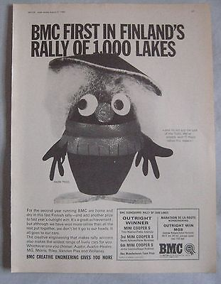 1966 BMC first in Finland Rally successes Original advert