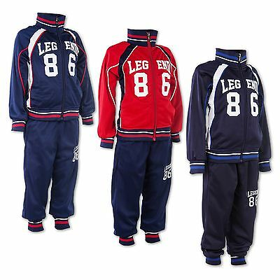 24brands Boys Tracksuit Trackies Sports Suit Bottoms Two Part Clothing