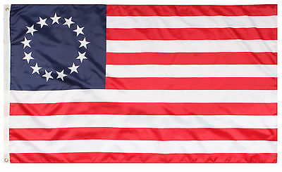 Red White & Blue Betsy Ross 13 Star Colonial American Flag 3' x 5' Rothco 1557