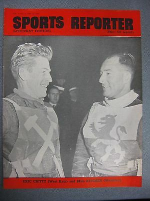 SPORTS REPORTER Speedway Edition  May 12th 1950 West Ham/Wembley