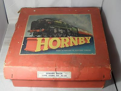 Hornby By Meccano Goods Train Set No 40 Gauge 0 With Key In Damaged Box