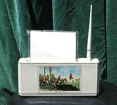 Equestrian Foxhunting Horse Memo DeskSet paper/pen holder CLEARANCE