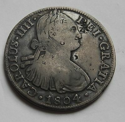Mexico 8 Reales 1806 Carolus IIII Mexico Mint Chop Marks