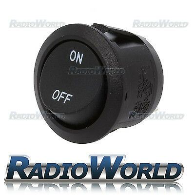 On/Off SPST 10A 12V Hobby / Project Round Rocker Horn Light Switch Button