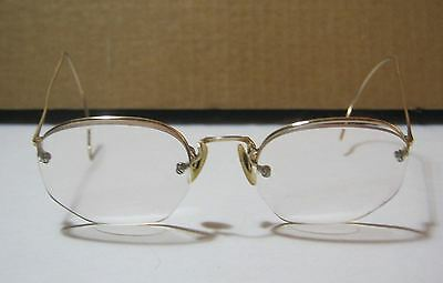 Vintage 1930's Rimless S/C 1/10 12k G.F Frames Prescription Eyeglasses     T*