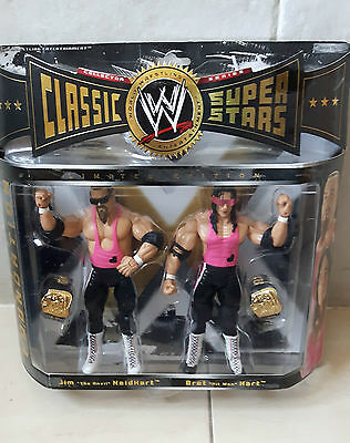 Wwe Hart Foundation Classic Superstar Figures - Limited Edition Wwf