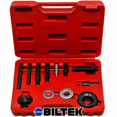 12 Pc. Puller Installer Kit Alternator Power Steering Pump Pulleys Remover Tool