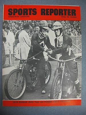 SPORTS REPORTER Speedway Edition 26th May 1950 Belle Vue & Wembley