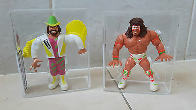 Ukg/afa Graded N/mint Wwf Randy Savage & Ultimate Warrior Hasbro Figures Wwe Wcw