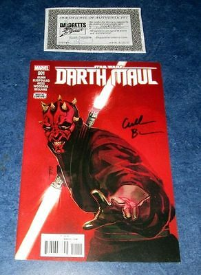 STAR WARS DARTH MAUL #1 signed 1st print MARVEL COMIC 2017 CULLEN BUNN NM COA