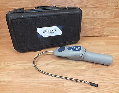 Inficon TEK-Mate Battery Operated Refrigerant Leak Detector With Case **READ**