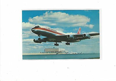 Air Canada airlines DC-8 at Toronto airport postcard