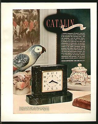 CATALIN PLASTICS New Haven Clock MAR 1941 Original Print Ad