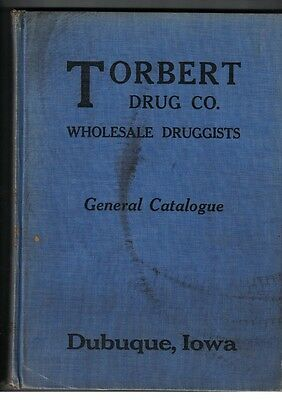 Torbert Drug Co General Catalogue Dubuque Iowa 1931-1932 Color Sections