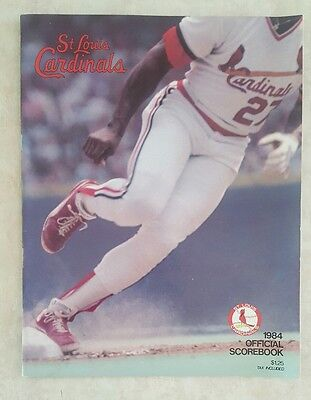 1984 ST LOUIS CARDINALS SCOREBOOK PROGRAM vs PHILLIES UNSCORED OZZIE HERR McGEE