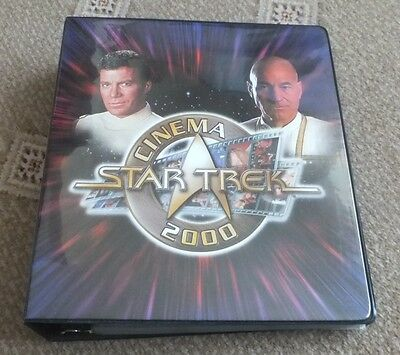 Star Trek Cinema 2000 Trading Cards Binder and Cards