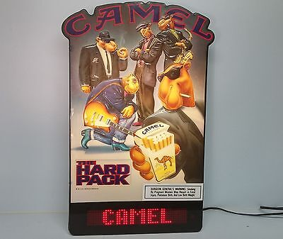 CAMEL Hard Pack Cigarettes Light Up Sign w Motion Advertising Large Tobacco Ad