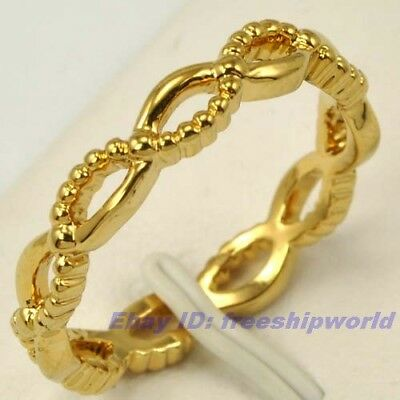 Size 7,8,9 Ring,REAL ARISTOCRATIC 18K YELLOW GOLD GP EMPAISTIC SOLID FILL 1840r