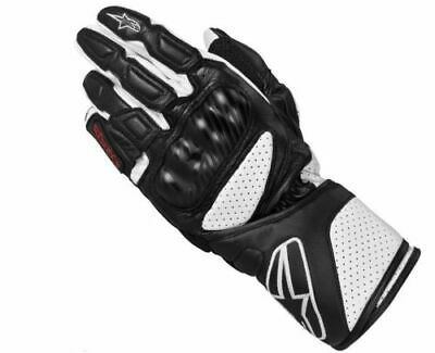 Alpinestars SP-8  SP8 Black Leather Racing & Sport  Motorcycle Gloves - Sp8