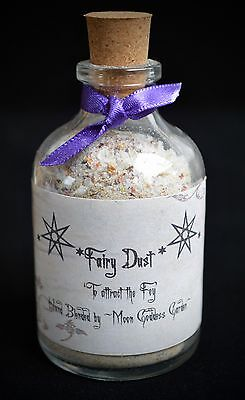LITTLE POTION BOTTLE  OF FAIRY DUST Wicca Pagan Fey Faerie Gift