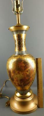 Venetian Classical Frosted Glass Lamp Gilded Figural-The Rape Of The Sabine-