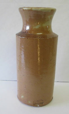 Antique Vintage Doulton Lambeth 1800'S Stoneware Ink  Bottle BROWN 6 INCH