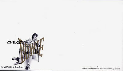 GB DAVID BOWIE BLANK FIRST DAY COVER with INSERT CARD