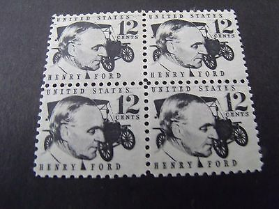 US Postage Stamp 1968 Henry Ford Early Scott 1286A  4-12c
