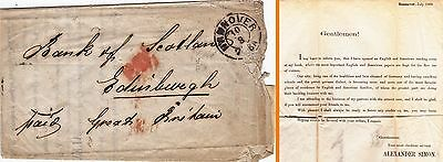 Germany : Hannover 'reading Room' Letter To Bank Of Scotland, Edinburgh (1869)
