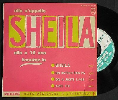 SHEILA,Elle s'appelle Sheila,RARE First FRENCH EP.France 60's Pop