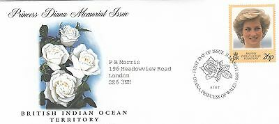 (02024) BIOT FDC Princess Diana Death 31 March 1998