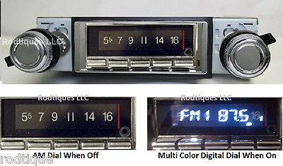 1969-1977 Camaro Bluetooth Stereo Radio Multi Color Display USA 740 *