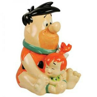 The Flintstones Fred and Pebbles Animation Art Ceramic Cookie Jar, 2011 NEW