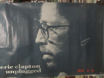 """Eric Clapton Unplugged  24""""X36"""" Record Store Promo  Poster"""