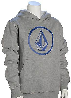 Volcom Boy's Stone Pullover Hoody - Grey / Blue - New