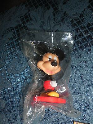 Vintage Kellogg's Small  Bobble Head Mickey Mouse Still In Package