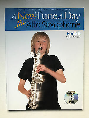 2 x Alto Sax Books Bundle - A New Tune a Day Performance Pieces & Book 1 + CDs