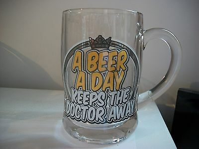 '' A Beer A Day Keeps The Doctor Away''- Beer Mug
