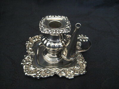 19th Century Sterling Silver Chamberstick Candlestick Sheffield with Bobeche & S